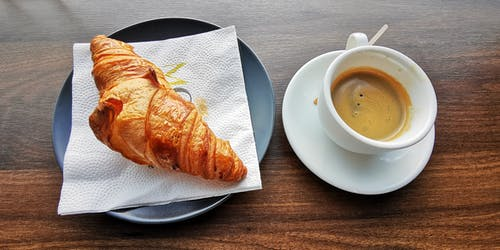 Free stock photo of breakfast, coffee, croissant, Good Morning