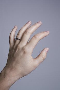 Free stock photo of woman, hand, girl, white