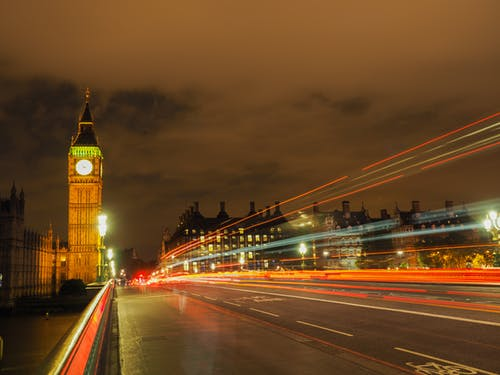 Free stock photo of big ben, bridge, city center, city lights