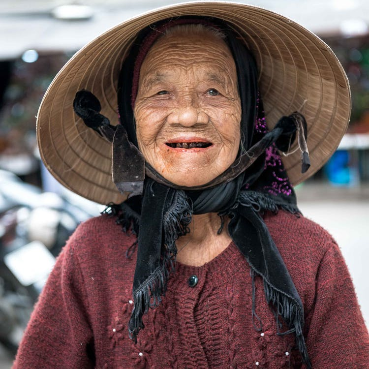 Portrait Photo Of An Old Woman