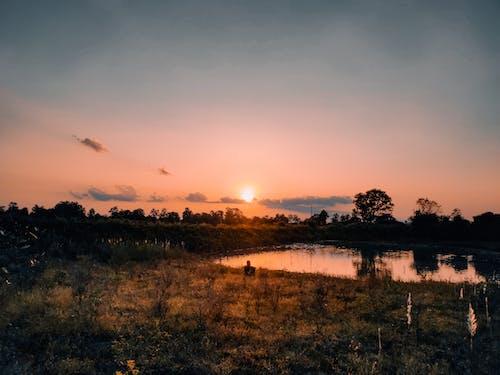 Gratis lagerfoto af solnedgang