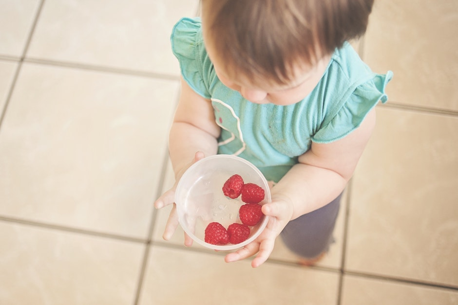 adorable, baby, bowl