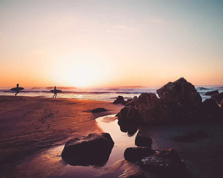 берег моря, берег океана, взрослые