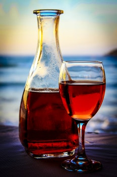 Free stock photo of sea, restaurant, red, alcohol