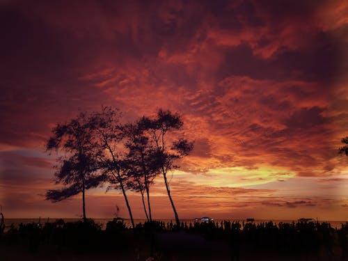 Kostenloses Stock Foto zu abendhimmel, abendsonne, strand, wunderschöner sonnenuntergang