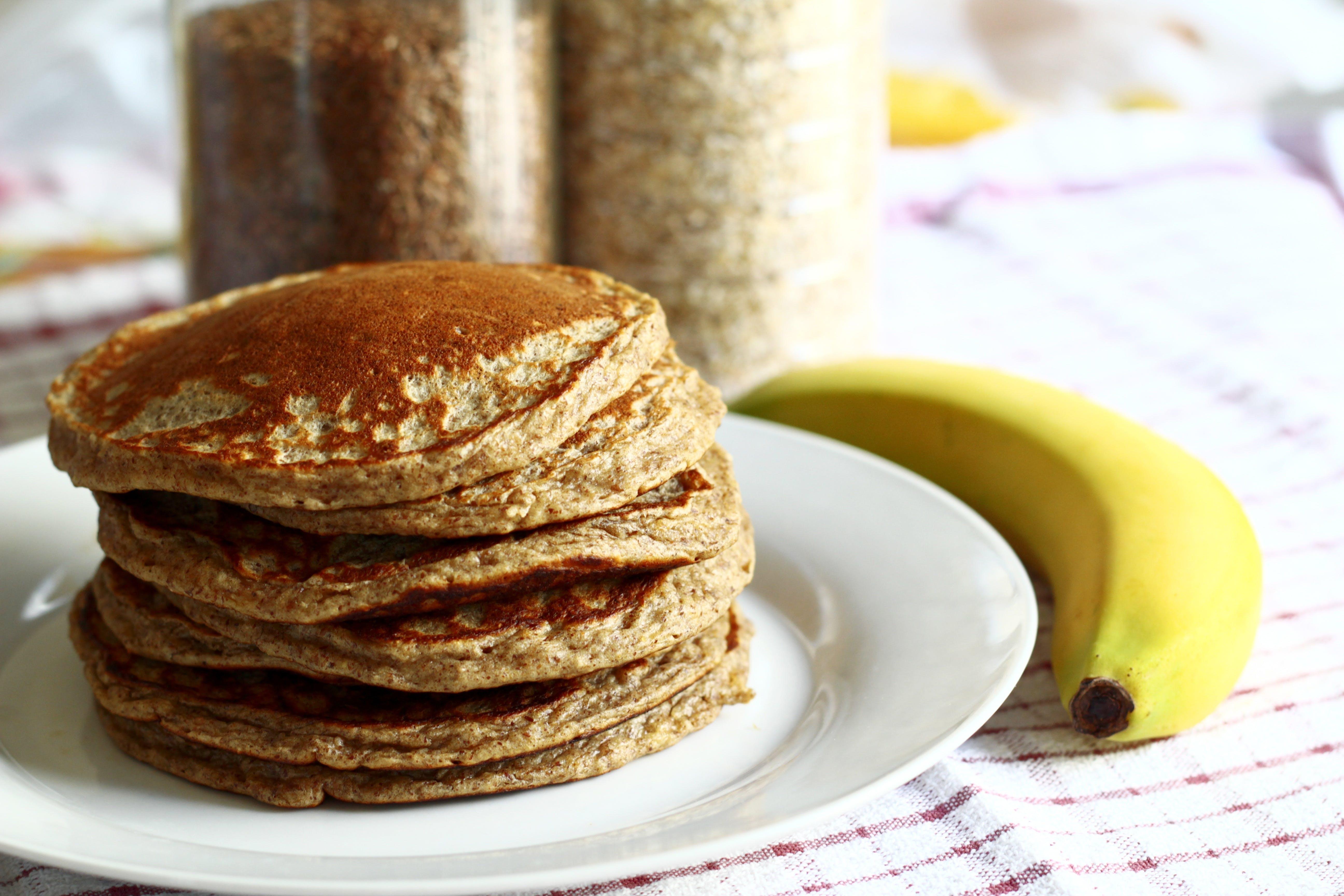 Pancakes and Ripe Banana