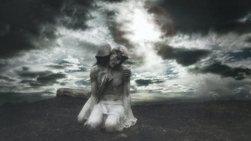 Free stock photo of macabre, melancholic, statue, surreal