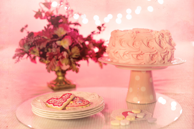Pink Flower Cake 183 Free Stock Photo