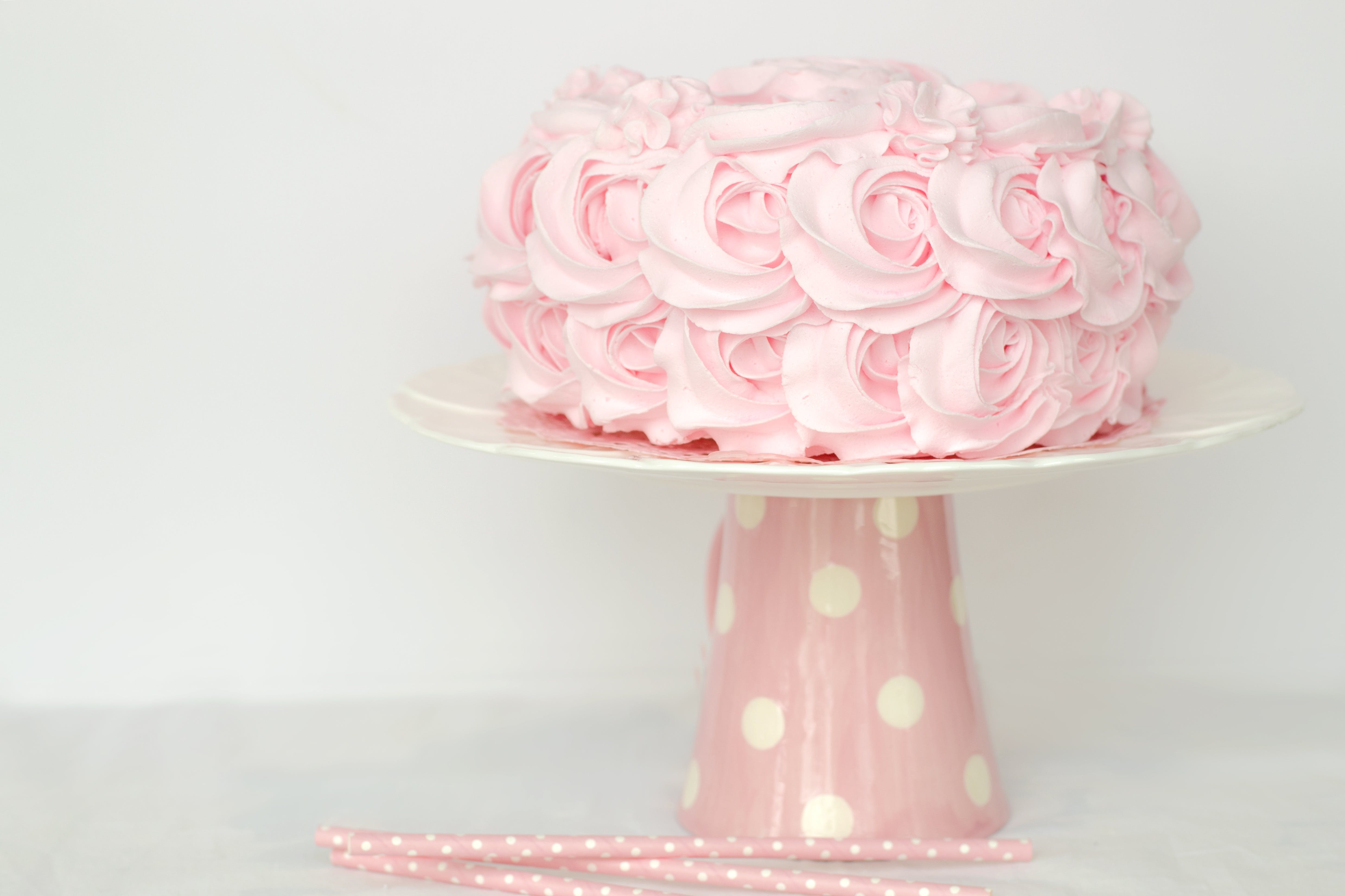 Pink Icing-covered Cake