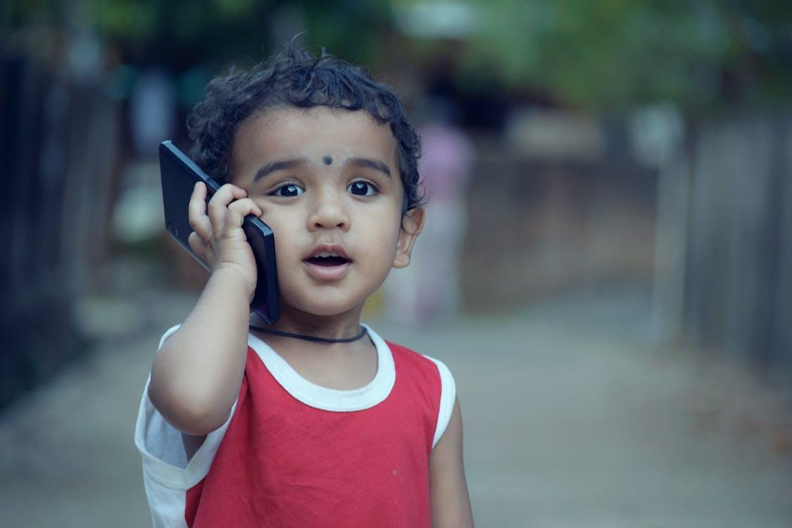 boy, cellphone, child