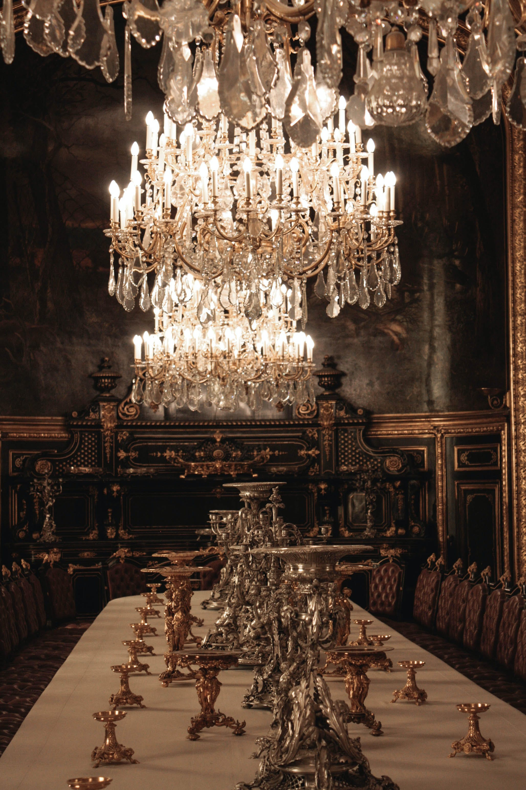 Free stock photo of chandelier, gold, louvre, museum
