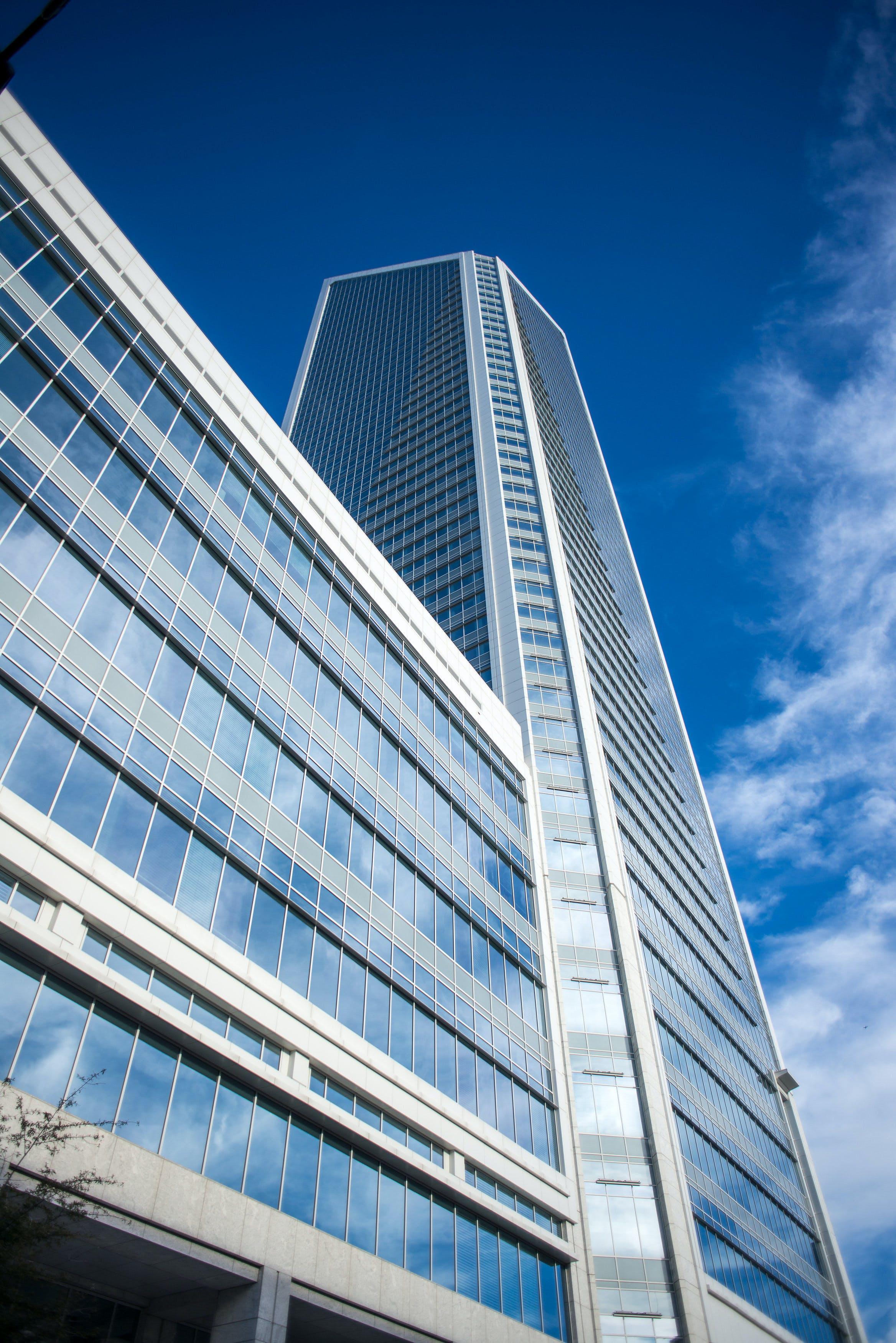 Blue Concrete High Rise Building