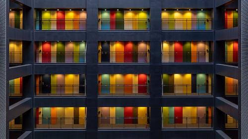 アジア, アパート, カラフル, 建築の無料の写真素材