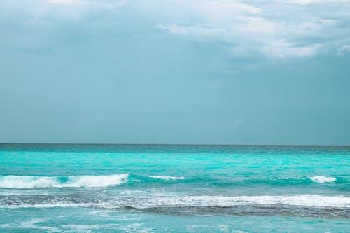 Free stock photo of Blue ocean, blue sea, blue water, cloudy sky