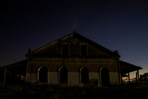 Photo of Abandoned Building During Night