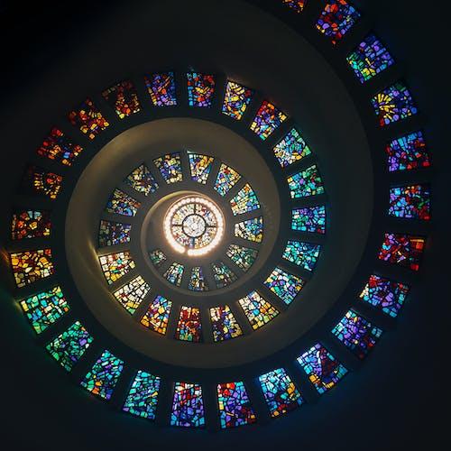 低角度拍攝, 信仰, 內部, 圓形的 的 免费素材照片