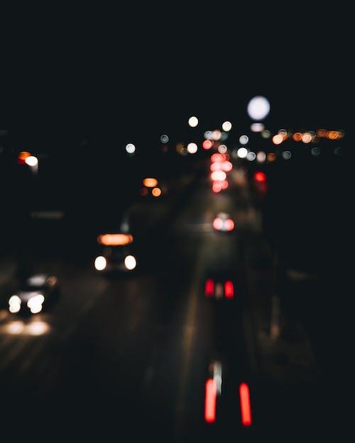 Fotobanka sbezplatnými fotkami na tému bokeh, noc, nočné svetlá, rozmazaný