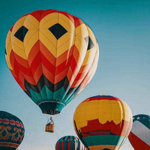 Photo Of Multi-Coloured Hot Air Balloons