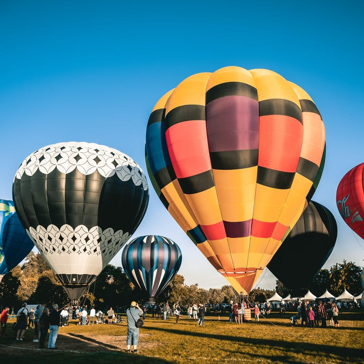 Assorted Colour Hot Air Balloons