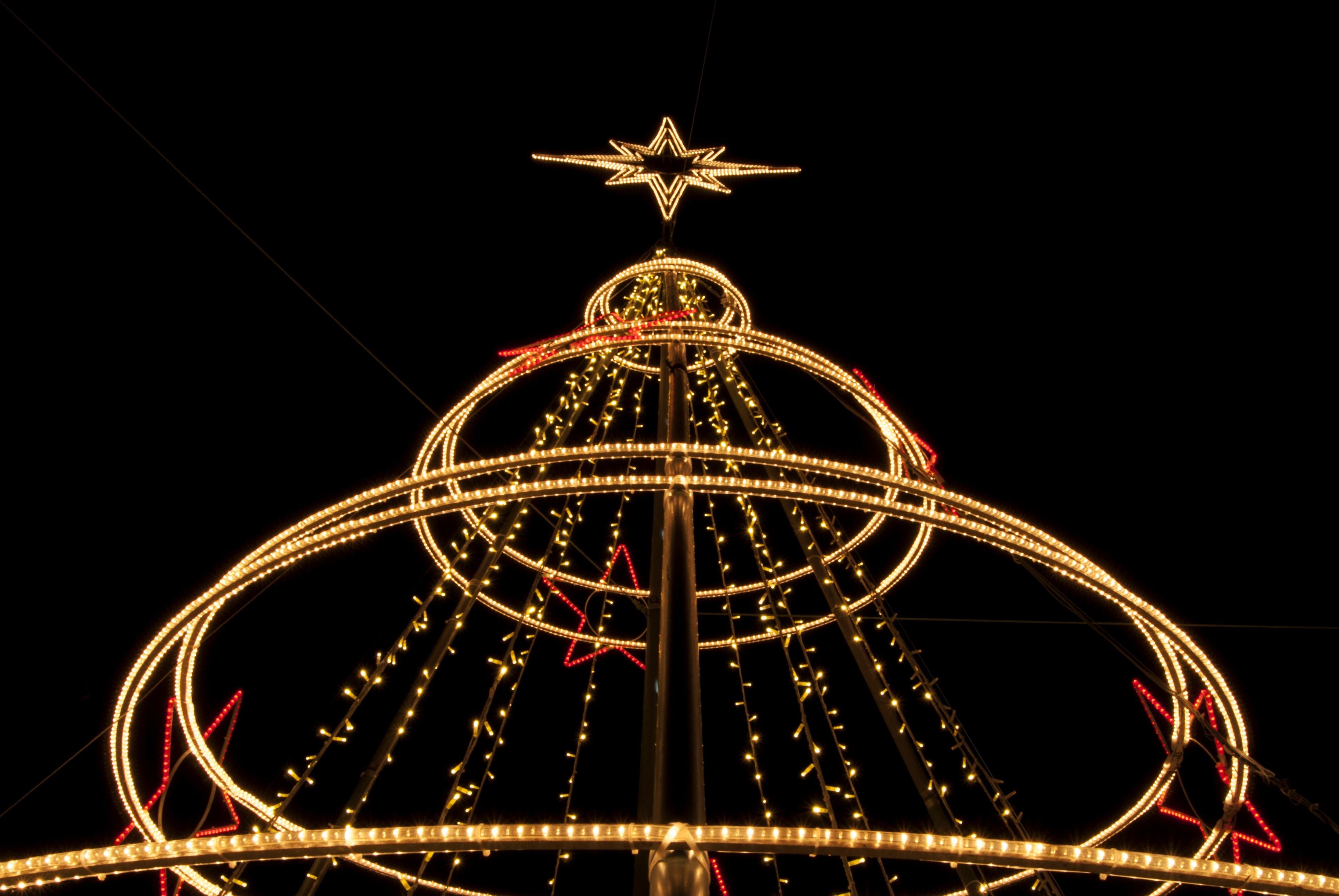 Free stock photo of lights, night, street, decoration