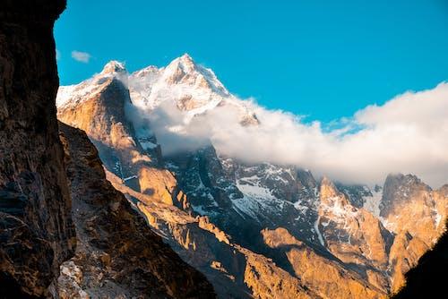 Free stock photo of clouds, mountain, snow, snow mountain
