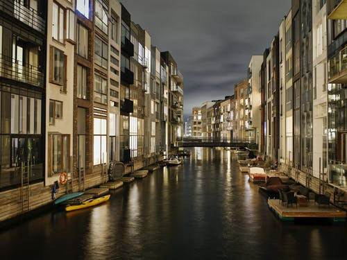 คลังภาพถ่ายฟรี ของ กลางคืน, ด้านหน้าท่าเรือ, ท่าเรือ, น้ำ