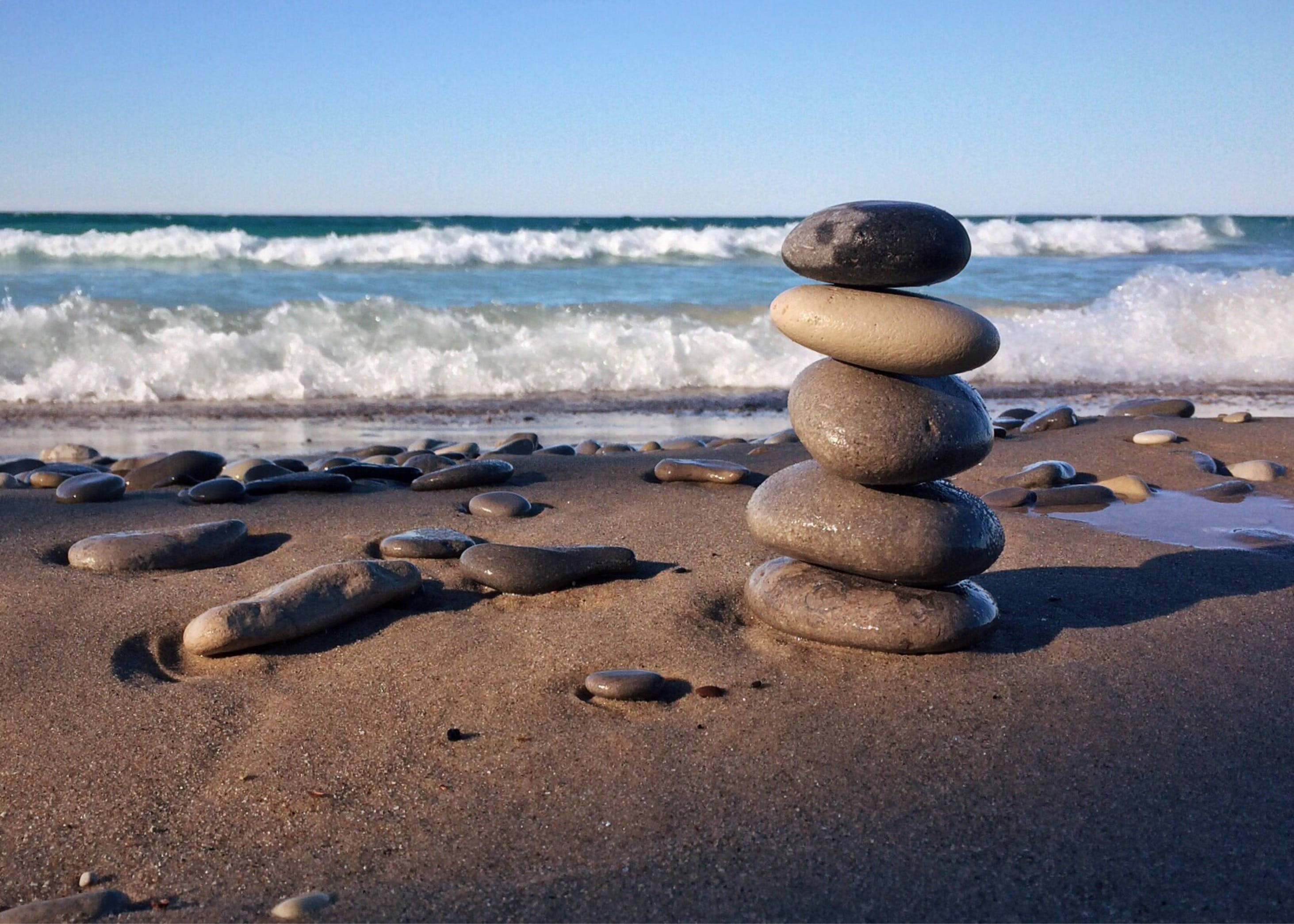 Free stock photo of rocks, stacked, balance, beach shore