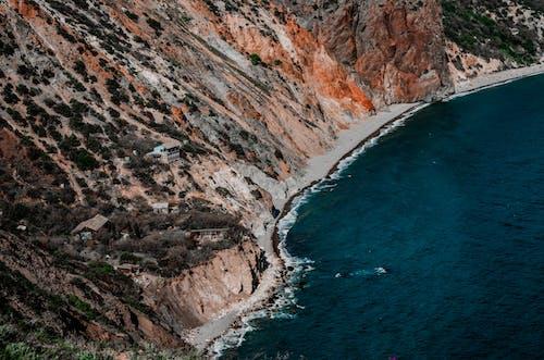 คลังภาพถ่ายฟรี ของ จากข้างบน, ชายทะเล, ทะเล, ภาพถ่ายทางอากาศ