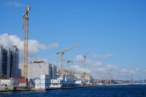 Free stock photo of cranes, harbour cranes