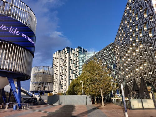 Free stock photo of buildings, o2