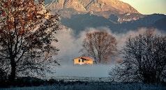 cold, dawn, mountains