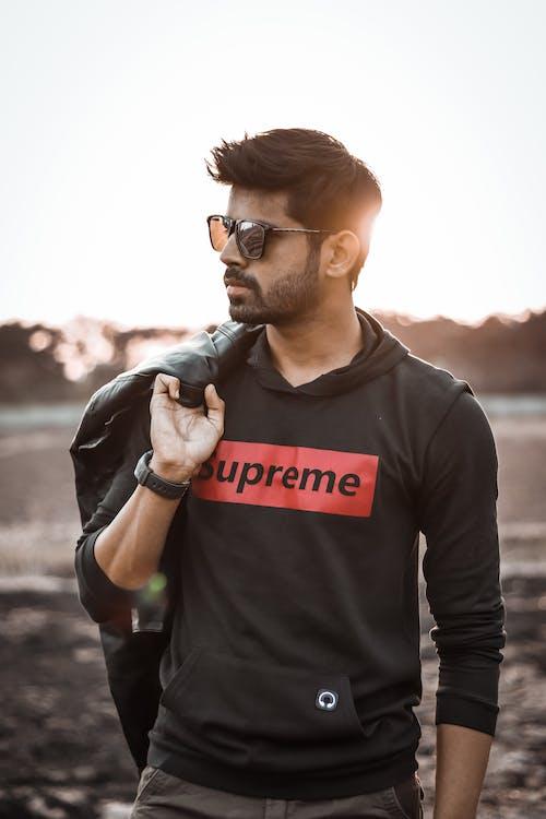 Free stock photo of black jacket, black leather jacket, black watch, casual clothing