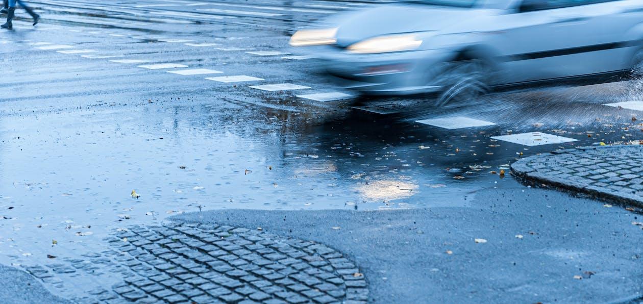 akcja, asfalt, auto