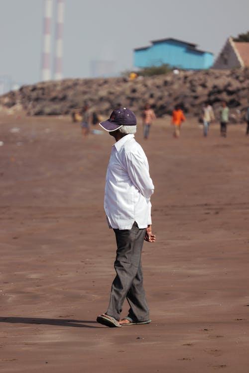 Free stock photo of Aditya Singh, afternoon, beach, cap