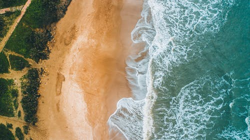 Free stock photo of Ariel, blue ocean, Diu