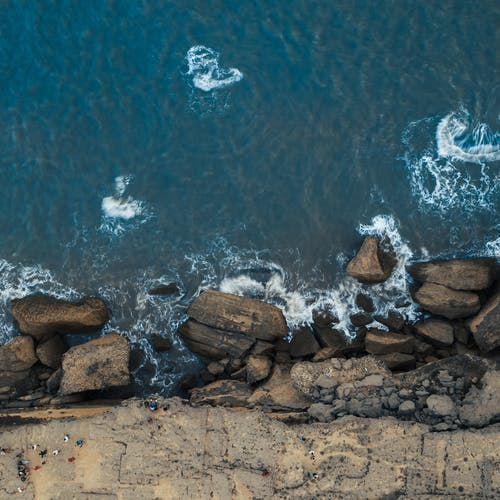 Free stock photo of Ariel, beach, drone photography