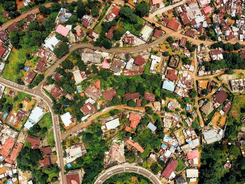 Aerial Photo of House Roofs Of A Residential Area