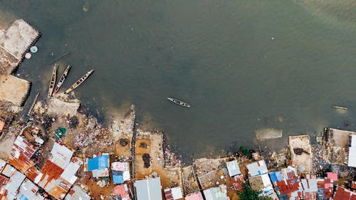 Aerial Photo of Boats on Body of Water