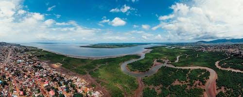강, 경치, 경치가 좋은, 공중 촬영의 무료 스톡 사진