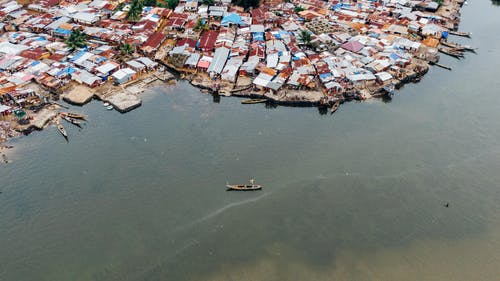Aerial Photography of Boat in Body of Water