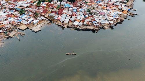 Ingyenes stockfotó evezős csónak, hajóm csónak, házak, tenger témában