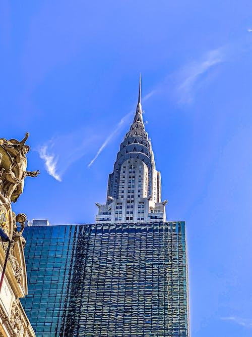 Gratis arkivbilde med blå himmel, by, bysentrum, chrysler bygning