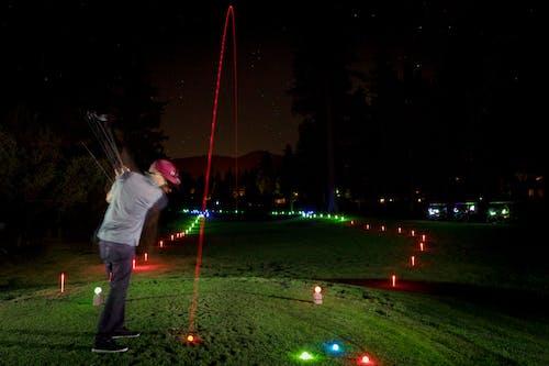 Free stock photo of glow golf, golf, golfing