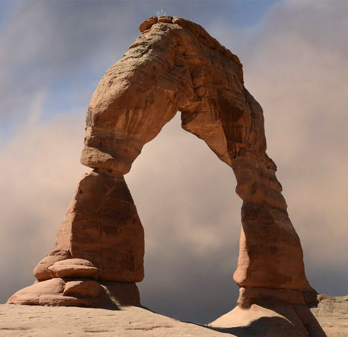 Brown Rock Arch Formation