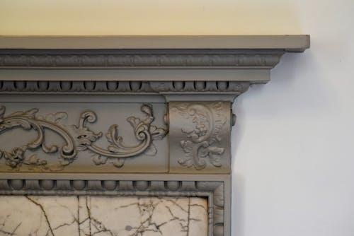 Free stock photo of fireplace, mantelpiece, stucco