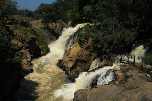 Foto d'estoc gratuïta de aigua blava, bellesa a la natura, cascades, salvatge