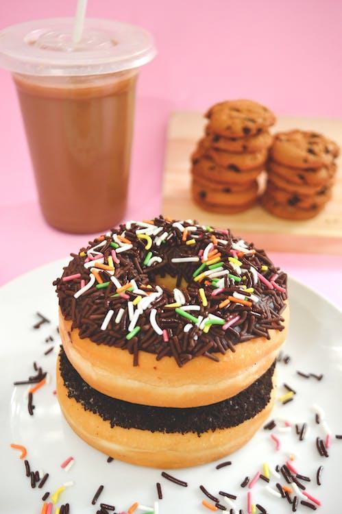 chutný, čokoláda, čokoládové sušienky