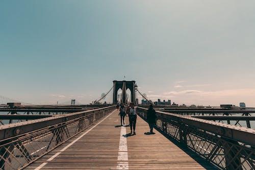 Darmowe zdjęcie z galerii z ludzie, most, most brookliński, nowy jork