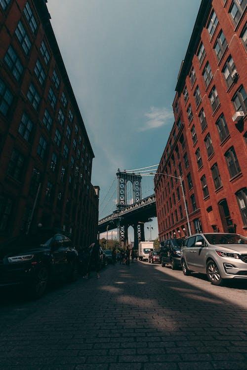 Darmowe zdjęcie z galerii z brooklyn, dumbo, ludzie, most