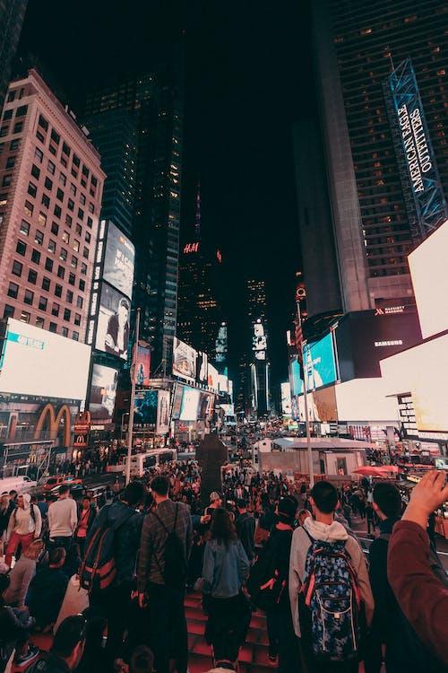 Darmowe zdjęcie z galerii z ludzie, manhattan, nowy jork, times square
